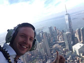 Экскурсия над Нью-Йорком на вертолете без дверей - selfie